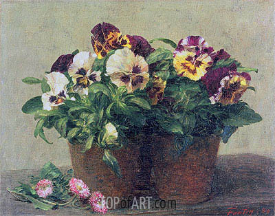 Fantin-Latour | Still Life of Pansies and Daisies, 1889