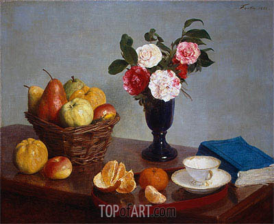Still Life, 1866 | Fantin-Latour | Painting Reproduction