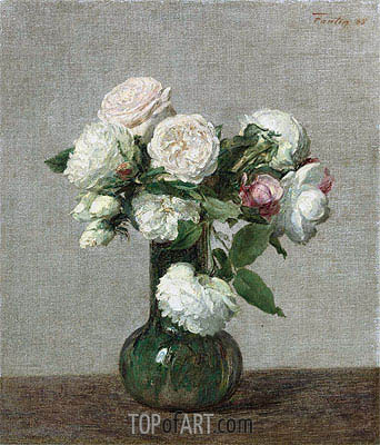 Roses, 1888 | Fantin-Latour| Painting Reproduction