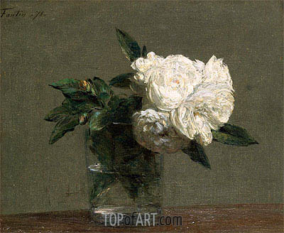 Roses, 1871 | Fantin-Latour| Painting Reproduction