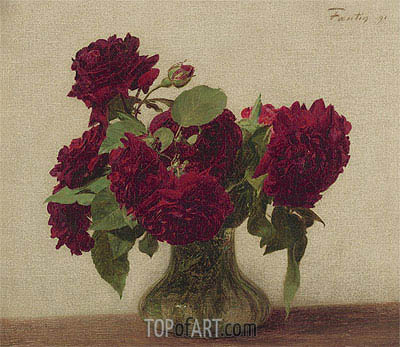 Dark Roses, 1891 | Fantin-Latour | Painting Reproduction