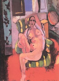 Nude with a Tambourine, 1926 by Matisse | Painting Reproduction