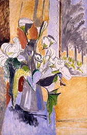 Bouquet of Flowers on a Veranda, c.1912 von Matisse | Gemälde-Reproduktion