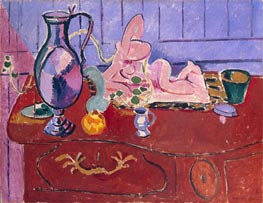 Pink Statuette and Jug on a Red Chest of Drawers, 1910 von Matisse | Gemälde-Reproduktion