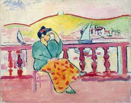 Woman on a Terrace | Matisse | Painting Reproduction