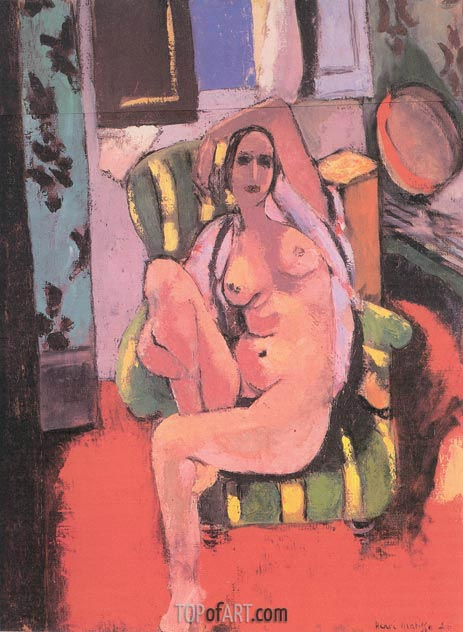 Nude with a Tambourine, 1926 | Matisse | Gemälde Reproduktion
