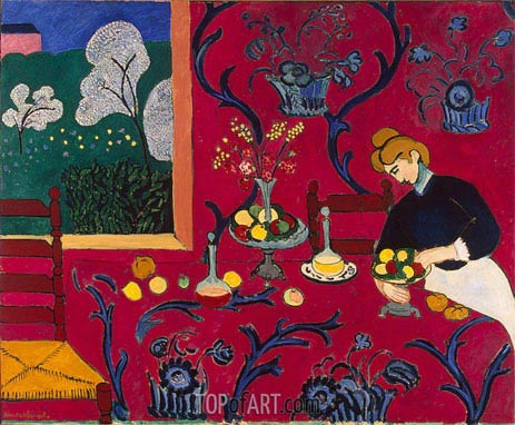 The Red Room (Harmony in Red), 1908 | Matisse | Painting Reproduction