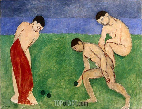 A Game of Bowls, 1908 | Matisse | Painting Reproduction