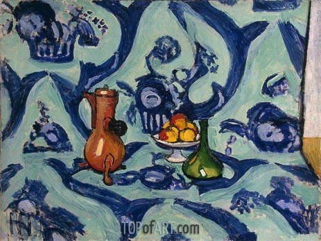 Still Life with Blue Tablecloth, 1909 | Matisse | Gemälde Reproduktion