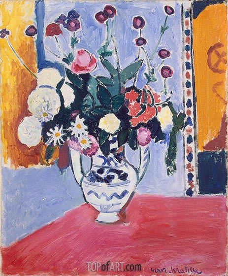 Bouquet (Vase with Two Handles), 1907 | Matisse | Painting Reproduction