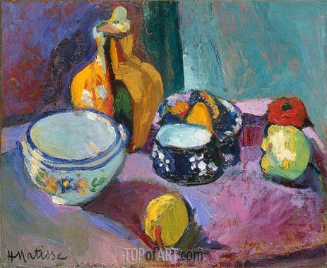 Dishes and Fruit, 1901 | Matisse | Gemälde Reproduktion