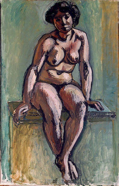 Seated Woman, 1908 | Matisse | Gemälde Reproduktion