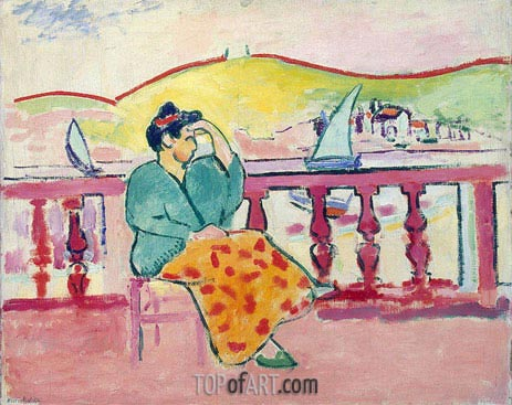 Woman on a Terrace, c.1907 | Matisse | Gemälde Reproduktion