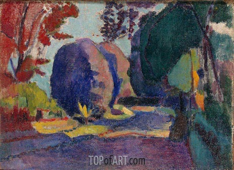The Luxembourg Gardens, c.1901 | Matisse | Painting Reproduction