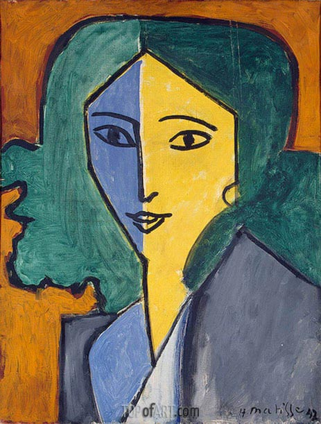 Portrait of Lydia Delectorskaya, 1947 | Matisse | Painting Reproduction