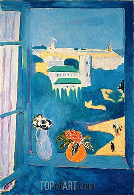 Landscape Viewed from a Window, 1913 | Matisse | Painting Reproduction