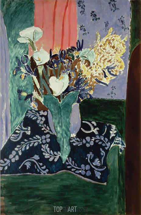 Calla Lilies, Irises and Mimosas, 1931 | Matisse | Gemälde Reproduktion