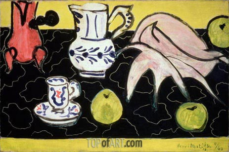 Still Life with a Seashell on Black Marble, 1940 | Matisse | Gemälde Reproduktion