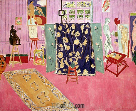 The Pink Studio, 1911 | Matisse | Gemälde Reproduktion