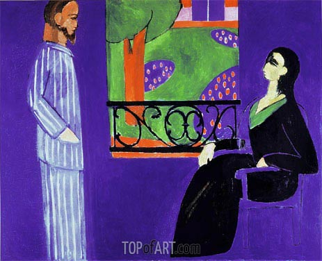 Conversation, c.1909/12 | Matisse | Painting Reproduction