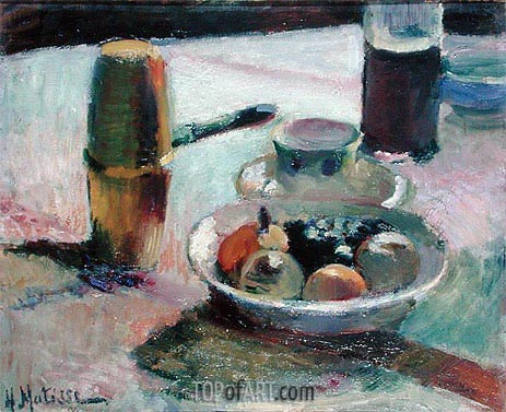 Fruit and Coffee Pot, 1898 | Matisse | Painting Reproduction