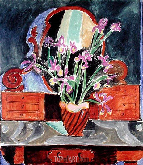 Vase of Irises, 1912 | Matisse | Painting Reproduction