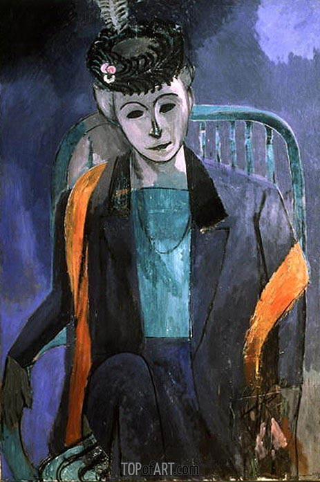 Portrait of Mme Matisse, 1913 | Matisse | Painting Reproduction