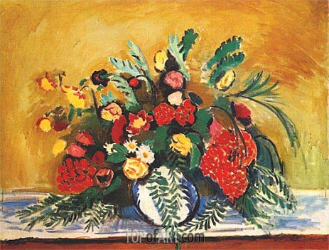 Bouquet of Flowers in a White Vase, 1909 | Matisse | Painting Reproduction