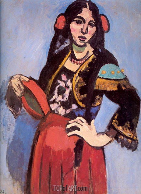 Spanish Woman with Tambourine, 1909 | Matisse | Painting Reproduction