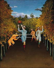 The Football Players, 1908 von Henri Rousseau | Gemälde-Reproduktion