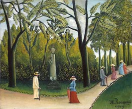 The Monument to Chopin in the Luxembourg Gardens, 1909 von Henri Rousseau | Gemälde-Reproduktion