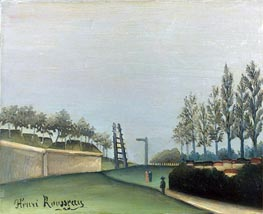 View of the Fortifications to the left of the Gate of Vanves, 1909 von Henri Rousseau | Gemälde-Reproduktion