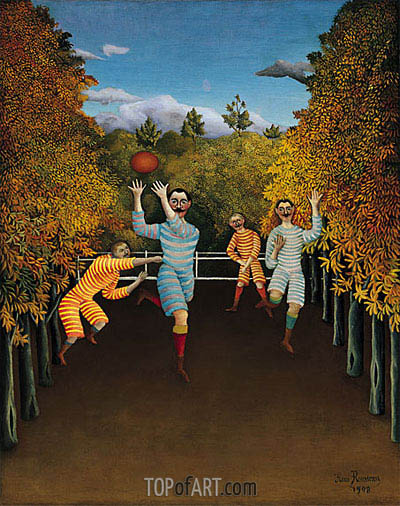 The Football Players, 1908 | Henri Rousseau | Gemälde Reproduktion