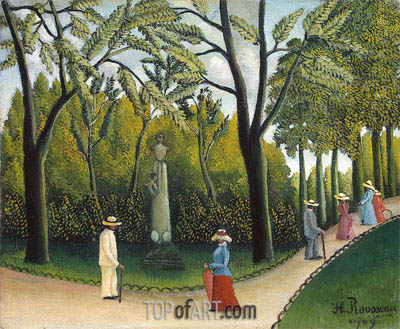 The Monument to Chopin in the Luxembourg Gardens, 1909 | Henri Rousseau | Painting Reproduction