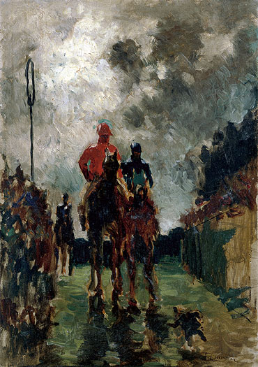 The Jockeys, 1882 | Toulouse-Lautrec | Painting Reproduction