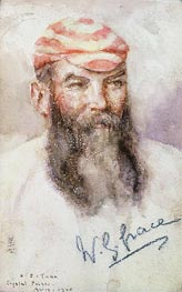 W. G. Grace, 1905 by Tuke | Painting Reproduction