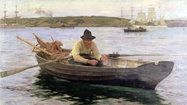 The Fisherman, 1889 by Tuke | Painting Reproduction