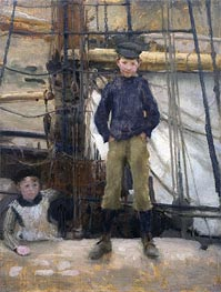 Two Children on Deck, undated von Tuke | Gemälde-Reproduktion