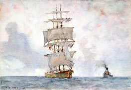 Barque and Tug | Tuke | Painting Reproduction