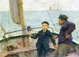 The Steering Lesson, 1892 von Tuke | Gemälde-Reproduktion