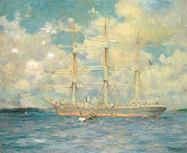 A French Barque in Falmouth Bay, 1902 von Tuke | Gemälde-Reproduktion