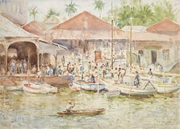 The Market, Belize, British Honduras, 1924 von Tuke | Gemälde-Reproduktion
