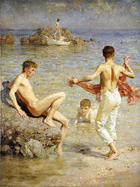 Gleaming Waters, 1910 by Tuke | Painting Reproduction