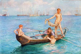 August Blue, 1896 von Tuke | Gemälde-Reproduktion