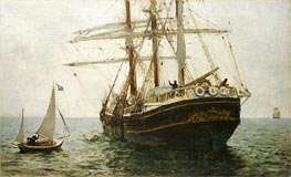 The Missionary Boat, 1894 by Tuke | Painting Reproduction