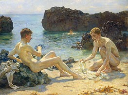 The Sun Bathers | Tuke | Painting Reproduction