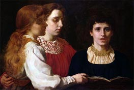 The Misses Santley, 1880 by Tuke | Painting Reproduction