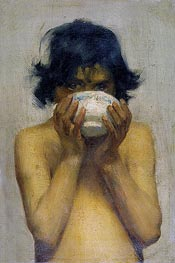 Drinking, c.1881 by Tuke | Painting Reproduction