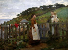 A Morning Gossip, 1885 by Tuke | Painting Reproduction