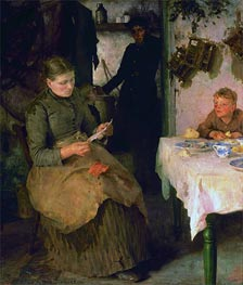 The Message, 1890 by Tuke | Painting Reproduction